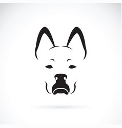 Dog face on white background pet animal vector