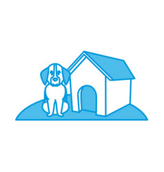 dog house cartoon vector image
