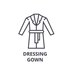 dressing gown line icon outline sign linear vector image