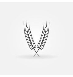 Ears of wheat logo or icon vector image