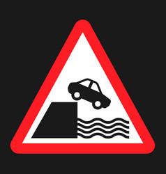 Embankment sign flat icon vector