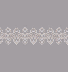 Embroidery needlework damask seamless vector