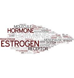 estrogen word cloud concept vector image