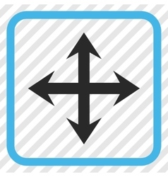 Expand Arrows Icon In a Frame vector image
