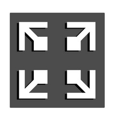 Expand to full screen or full screen - flat icon vector