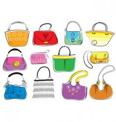 fashion bags vector image