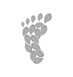Footprint of leaves icon black monochrome style vector image