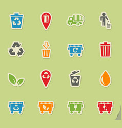 Garbage icon set vector