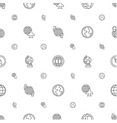 geography icons pattern seamless white background vector image