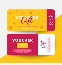 gift voucher template flat style vector image
