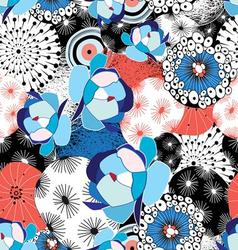 graphic beautiful pattern of flowers and abstract vector image