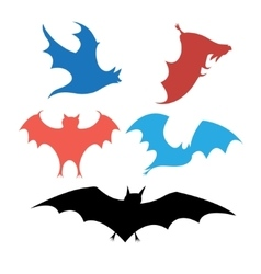 Graphic set of bats vector image
