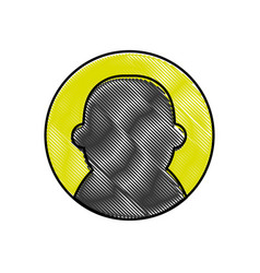 Grated avatar user social profile person vector