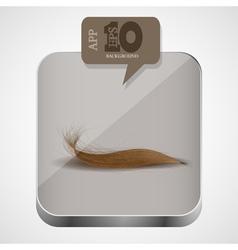 Hair app icon vector image