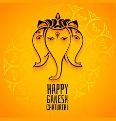 happy ganesh chaturthi mahotsav celebration vector image