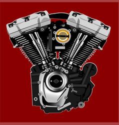 Harley motor vector