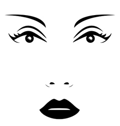 Isolated woman face vector