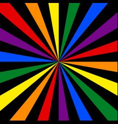 Lgbt flag rainbow background abstract sunburst or vector