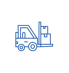 loader in stock line icon concept loader in stock vector image