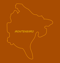 Map and flag of montenegro vector