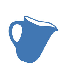 milk jug or pitcher jug or vector image