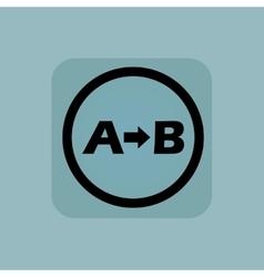 Pale blue A B sign vector