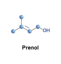 prenol natural alcohol vector image