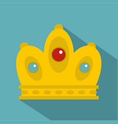 queen crown icon flat style vector image