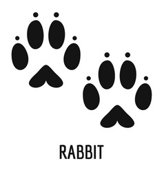 Rabbit step icon simple style vector