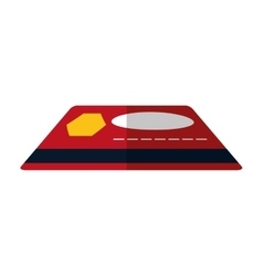 Red credit card bank money pay color shadow vector