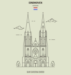 saint catherina church in eindhoven vector image