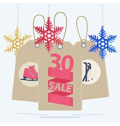 Sale labels for a Christmas sport sale vector