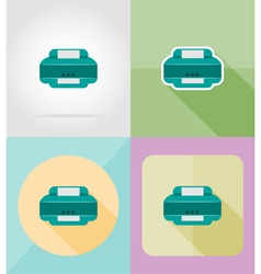service flat icons 26 vector image