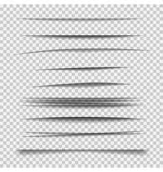 Set of transparent realistic paper shadow effects vector
