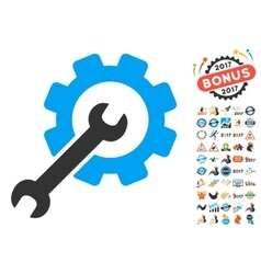 Setup Tools Icon With 2017 Year Bonus Pictograms vector