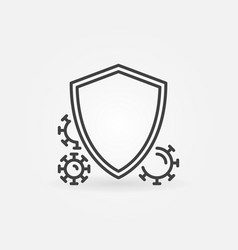 Shield and virus or bacteria linear minimal vector