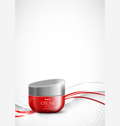 Skin moisturizer cosmetic design template vector