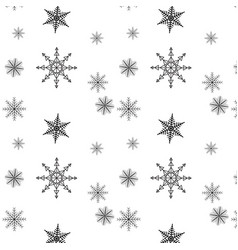 snowflake simple seamless pattern black snow on vector image
