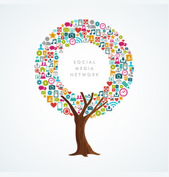 social media network concept for internet app vector image