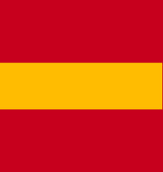 spain flag icon in flat style national sign vector image