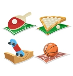 Sport Cartoon Isolated Icons Set vector