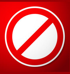 stylish restricted prohibited sign vector image