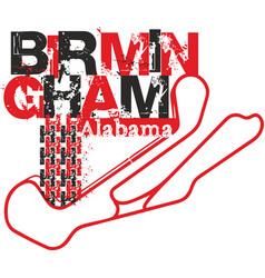 T-shirt design birmingham city shirt birmingham vector