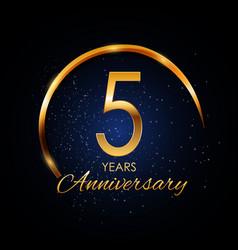 Template logo 5 year anniversary vector