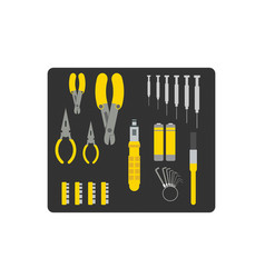 Tool set for repairing computer vector