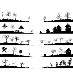 tree landscapes vector image