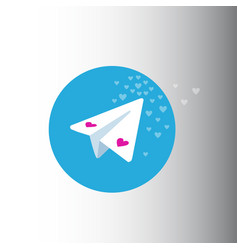 Valentine day telegram messenger vector