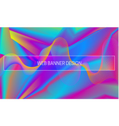 vibrant gradient background with colorful vector image