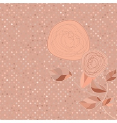 vintage rose card vector image