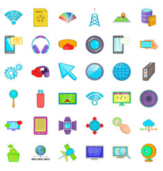 Web progress icons set cartoon style vector